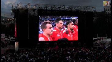 Fan Zone Gen�ve reportage (France-Suisse)